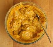 Marinating Tandoori Chicken Tikka Meat Royalty Free Stock Images