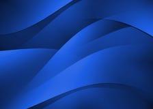 Marinblå bakgrund för abstrakt kurvtextur Arkivbilder