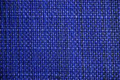 Marinblå tygtextur Mörker - blå torkdukebakgrund Övre sikt för slut av marinblå tygtextur och bakgrund Royaltyfria Foton