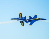 Marinblåa änglar Airshow för USA Arkivbilder