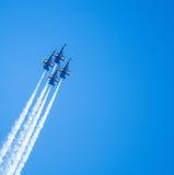 Marinblåa änglar Airshow för USA Arkivfoton