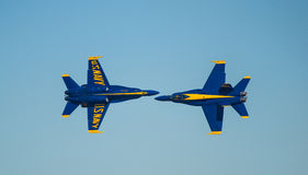 Marinblåa änglar Airshow för USA Arkivbild