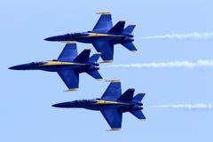 Marinblåa änglar Airshow för USA Fotografering för Bildbyråer