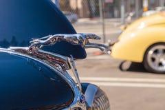 Marinblåa Ford Roadster 1936 Arkivfoto