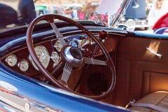 Marinblåa Ford Roadster 1936 Arkivbilder