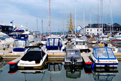 Marine. Boats and yachts in the port of Tallinn Royalty Free Stock Photo
