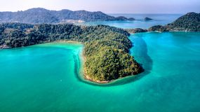 Marine from above. Ko Chang. Thailand. December 2017 stock image