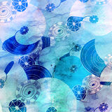 Marine abstract bright background Stock Image