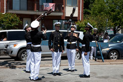 Marine Academy's Drill Team Royalty Free Stock Photos