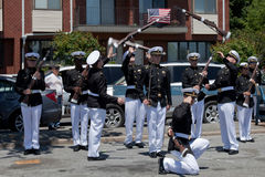 Marine Academy's Drill Team Royalty Free Stock Images