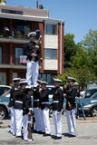 Marine Academy's Drill Team Stock Images