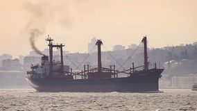 Marine air pollution stock footage