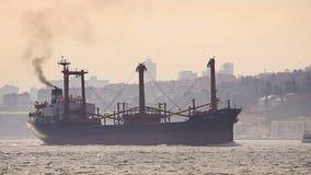Marine air pollution stock footage