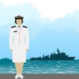 Marine-AMERIKANISCHE Armee officer-1 Stockbild