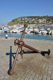 Marine anchor at Fécamp in France Royalty Free Stock Photography