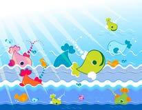 Marine animals Stock Image