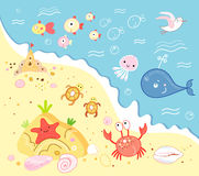 Marine animals stock illustration