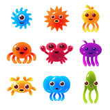 Marine Animals Balloon Characters Set Photographie stock libre de droits