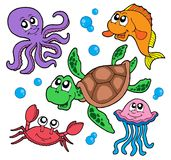 Marine animals collection. Vector illustration Stock Photography