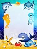 Marine animals frame Stock Image