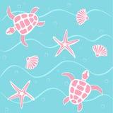 Marine background. Abstract marine background illustration royalty free illustration