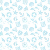 Marine background. Marine and summer pattern. blue background Stock Photos