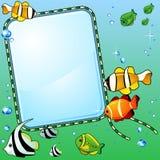 Marine background with fish Stock Photo