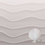 Marine background with seashells on sand. Royalty Free Stock Photos