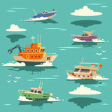 Marine background with ships Stock Photography