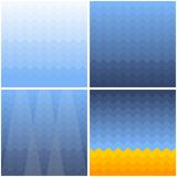 Marine background with waves gradient vector illustration