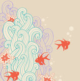 Marine backgrounds with fishes Royalty Free Stock Image