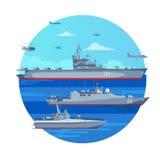 Marine Battle Fleet Concept royalty free illustration