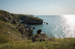 Marine Bay. Surrounded by cliffs Stock Images