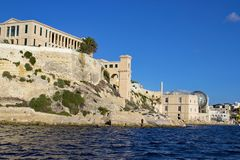 Marine Bighi-Krankenhaus Malta stockbild
