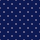 Marine-Blau-nahtloses Muster mit kleinen weißen Blumen Stockbild