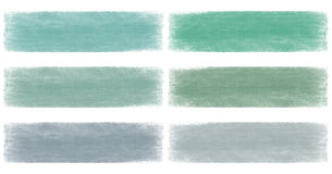 Marine blue and green faded grunge banner set Stock Image