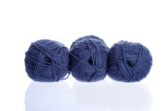 Marine blue knitting yarn Royalty Free Stock Image