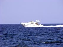 Marine boat. Is moving rapidly to large areas of sea water Stock Images