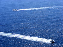 Marine boats. Is moving rapidly to large areas of sea water Stock Photos