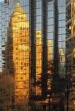 Marine Building Vancouver Reflection Arkivfoto