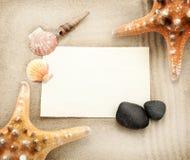 Marine card. Stock Photography