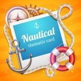 Marine Card Template Stock Image