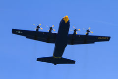 Marine cargo airplane at the Chicago Air Show Stock Images
