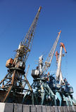Marine cargo cranes Royalty Free Stock Photo