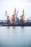 Marine cargo port stock image