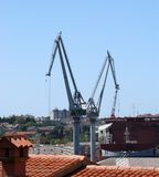 Marine cargo port. Cranes. Croatia Stock Photography
