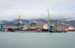 Marine cargo port Stock Image