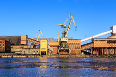 Marine cargo port of Ventspils Stock Photography