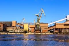 Marine cargo port of Ventspils Stock Photography