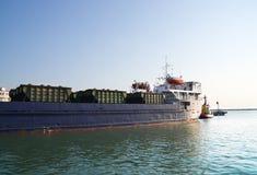 Marine cargo ship at the port Royalty Free Stock Photography